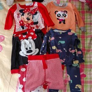 Lot of girls 18 months pajamas